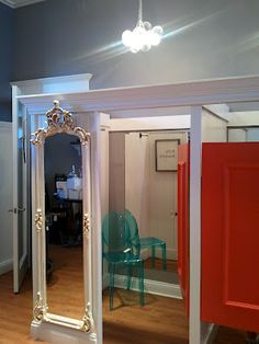 wood frame mirror Retail fitting rooms Atlanta GA