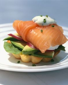 The Best Smoked Salmon Wrap Recipes on Yummly Egg Recipes, Brunch Recipes, Breakfast Recipes, Healthy Recipes, Gourmet Breakfast, Avocado Recipes, Cream Recipes, Seafood Recipes, Healthy Food