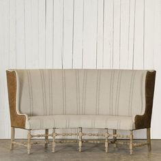 banquette settee from ralph lauren home
