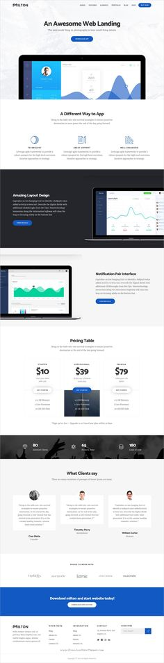MMilton is clean and modern design multipurpose responsive #WordPress theme for #app #software #landingpage website with 13 stunning homepage layouts download now..