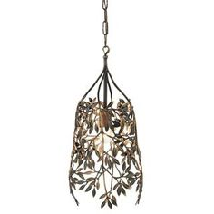 Check out the Currey and Company 9000-0115 Parterre 1 Light Pendant in Antique Brass priced at $1,370.00 at Homeclick.com.