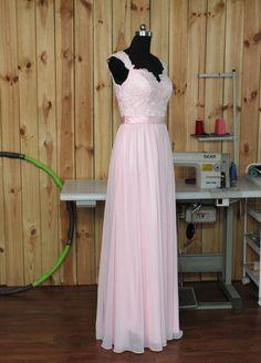 2015 pale Pink de Dama de honor boda de encaje por Dressesall4you
