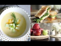 Easy & Delicious Fall Recipes Using Apples - Soup & Apple Brie Melt #iHeartFall Ep 4 MissLizHeart - YouTube