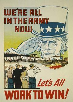 A home front USA propaganda poster.