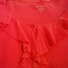 PRICE REDUCED! Top Coral three quarter sleeve top 100% cotton Bay Studio  Tops