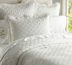 Linen Diamond Quilt & Shams   Pottery Barn -- have the shams need the quilt for alternate quilt :)