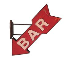 "Dekoracja ścienna ""Bar"", 10 x 54 x 57 cm"