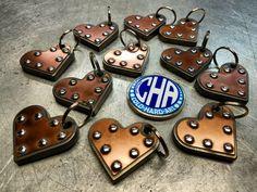 1/4 titanium and copper key chains cold hard art  metal art