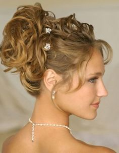 soft curls updo hairstyles - Google Search