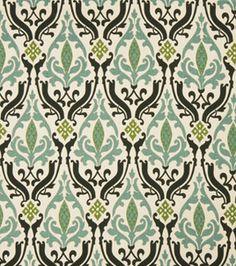 Joann Fabrics. # 11922606  Home Decor Print Fabric- Eaton Square Earl Grey-Spa Lattice