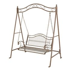 outdoor swing chair bunnings office instructions marquee rustic iron 2 seater warehouse decking seat with ground pegs