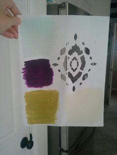 Kitchen color scheme and stencil