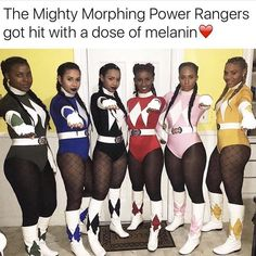 Have a Hot Ghoul Halloween With These 60 Girlfriend Group Costumes Power Rangers Halloween Costume, Black Girl Halloween Costume, Girl Group Halloween Costumes, Cute Costumes, Halloween Outfits, Costumes For Women, Costume Ideas, Power Ranger Disfraz, Power Rangers Fantasia