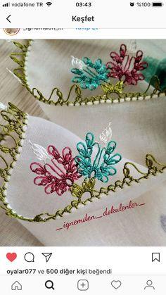Igne oyası modellerı Crochet Unique, Knit Shoes, Needle Lace, Lace Making, Sweater Design, Knitted Shawls, Knitting Socks, Crochet Projects, Hand Embroidery
