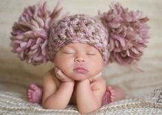 Poor Baby...her hat is the same color as her feet with no blood flowing through them.