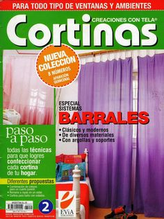Revistas de manualidades Gratis: Cortinas Book Crafts, Diy And Crafts, Craft Books, English Book, Applique Designs, Craft Projects, Sweet Home, Shabby Chic, Art Deco