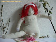 pregnant birthing breastfeeding doll ❀ muñeca embarazo parto lactancia by Sonniger Wald, via Flickr  cloth rag doll