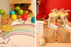 Rainbow party (cloud treat bags)