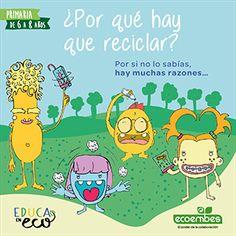 Recursos educativos de reciclaje | Ecoembes Recycling, Comics, Ideas, Environment, World, Alphabet Soup, Brochures, Schools, Cartoons