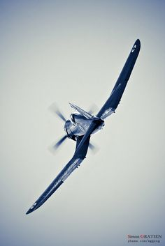 Corsair. Beautiful plane and the most powerful piston-engined fighter ever, but came too late to have much effect in the war