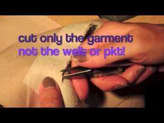 Single welt pocket sewing DD - YouTube