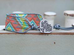 Tribal Chevron Loom woven Cuff Bracelet, beaded friendship bracelet, beaded cuff bracelet by TowerCreationsbyTC on Etsy