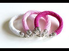 Beading Ideas - Crochet Bracelet - YouTube