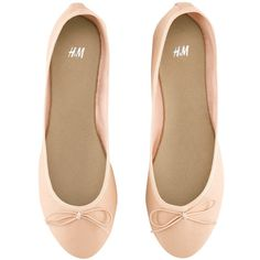 H&M Ballet pumps (155 ARS) ❤ liked on Polyvore featuring shoes, flats, sapatos, zapatos, scarpe, women, h&m shoes, ballet flat shoes, bow shoes and flat shoes