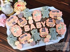 🍪REQUEST AN ORDER ON MY WEBSITE (below) 🌎Bakersfield, CA & ship… Baby Cookies, Baby Shower Cookies, Adoption Party, Custom Cookies, Cute Babies, Instagram Posts, Ship, Website, Ships
