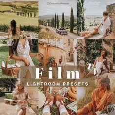 F I L M - 5 Mobile Lightroom Presets -@dolcevitapresets #lightroompresets #mobilepresets #presets #lightroom #blogger #travel #influencer #instagrammer #travelblogger #traveling #beach #sea #film #vintage #tuscany