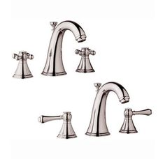 Grohe  20801BE0  Polished Nickel Double Handle Widespread Lavatory Faucet from the Geneva Series