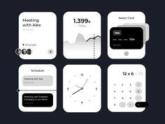 Design Ios, Blog Design, Ui Kit, Design Thinking, Apple Watch, Motion Design, Wireframe, Ui Elements, Design System