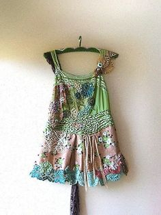 Forest Fae Top by AllThingsPretty on Etsy.  Now this is tactile textile inspiration.