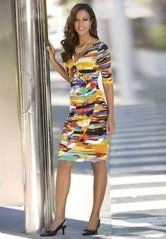 fb74544e995 Monroe-Main-Watercolor-Dress-Misses-Size-XL-Spring-