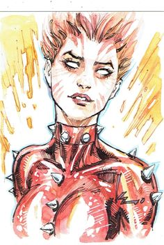 Rachel Summers Phoenix by Kenneth Rocafort, in Doctor Fantastic's Kenneth Rocafort Comic Art Gallery Room Comic Book Girl, Comic Book Artists, Comic Books Art, Comic Art, Marvel Girls, Marvel Heroes, Marvel Women, Dc Comics Art, Anime Comics