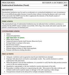 Endotracheal Intubation (Nasal)