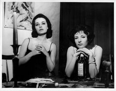 Jeanne Moreau and Monica Vitti, La notte (Michelangelo Antonioni, 1961)