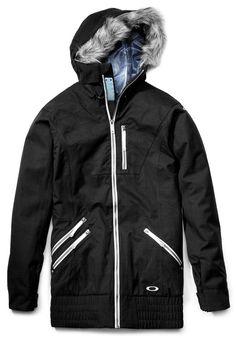 """Womens Oakley MFR """"Jet Black"""" Jacket. [ #oakley #womens #ski #snowboard #fashion #style #jacket #teen ]"""