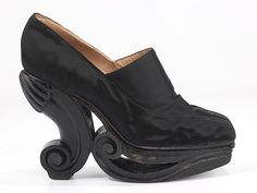 Steven Arpad (avant garde designer of shoes for couture houses) platform shoes, 1939 - possibly for Schiaparelli?