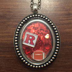 Rutgers Scarlet Knights Football Floating Charms Locket