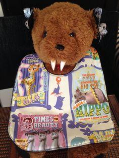 Circus Animals Baby Bib by babybatboutique on Etsy, $10.99