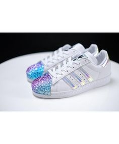 huge discount c195f e7a0d Womens Adidas Superstar 80s Metal Toe White Iridescent Trainers Adidas  Superstar 80s Metal, Popular Shoes