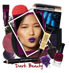 """Dark Beauty"" by frenchfriesblackmg ❤ liked on Polyvore featuring beauty, Bobbi Brown Cosmetics, By Terry, Tom Ford, Temptu, Burberry, beautyblender, Givenchy, Lancôme and Lipstick Queen"