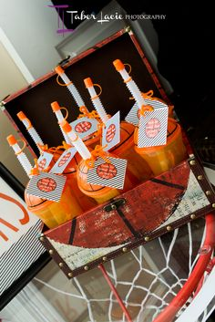 Basketball party favors. You could do this with any sport.