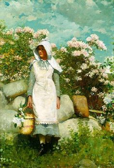 Winslow Homer, Girl and Laurel, 1879 :: captures laurel so well and reminds me if my grandmother's yard