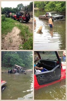 Silly boys, trucks don't go good in water~