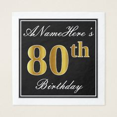 Elegant Red Faux Gold Birthday Custom Name Napkin - script gifts template templates diy customize personalize special 18 Birthday, Birthday Gifts, Birthday Parties, Birthday Ideas, Diy Design, Script, Art Diy, Home Living, Decoration
