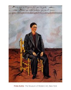 By Frida Kahlo Self-Portrait with Cropped Hair, oil on canvas. Kahlo painted Self-Portrait with Cropped Hair shortly after she divorced her unfaithful husband, the artist Diego Rivera. Frida E Diego, Diego Rivera Frida Kahlo, Frida Art, Frida Kahlo Artwork, Frida Kahlo Exhibit, Arte Latina, Mexican Artists, Wassily Kandinsky, Art And Illustration