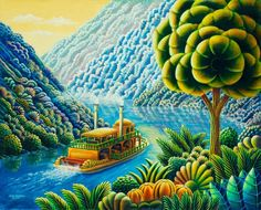 """""""Up The Lazy River"""" ~ by Andy Russell.Voila la lumiere."""