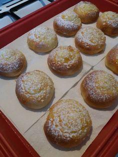 Cseh fánk (sütőben sütve), nem szívja meg magát zsiradékkal és tökéletesre sül 20 perc alatt! - Ketkes.com Pretzel Bites, Muffin, Food And Drink, Bread, Cooking, Breakfast, Recipes, Diet, Kitchen